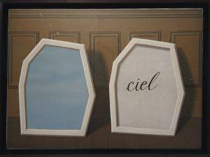 Magritte - Ciels sur fond moulures