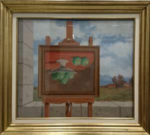 Magritte - Tableau à l'envers