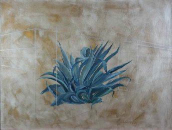 'Cactus, principe A', 2016 - Technique mixte sur toile - H. 89 cm x L. 116 cm -  Prix : 1.100 euros