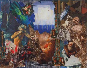 """""""Mortels"""", inspiré  des Métamorphoses d'Ovide', Paris, 2017 -  Collage sur papier canson - H. 50 cm x L. 65 cm -   Prix de vente : 250 euros"""