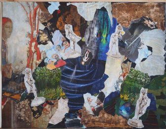 'Le Chaos', Paris, 2017 -  Collage sur papier canson - H. 50 cm x L. 65 cm -   Prix de vente : 250 euros