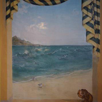 Décor vue sur mer - Dim 190 x 114 cm