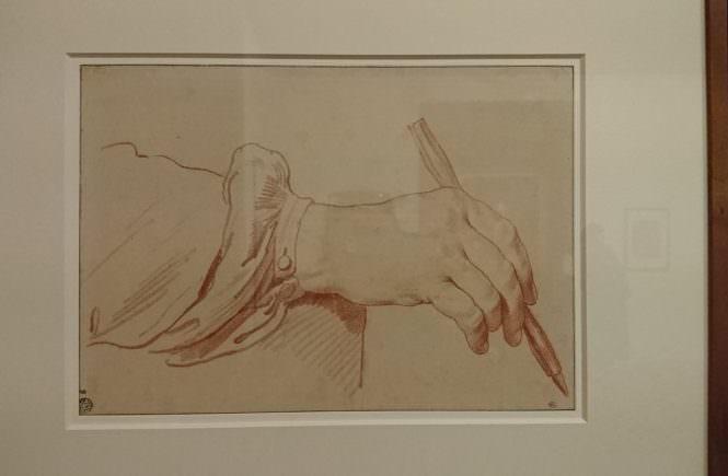 Edmé Bouchardon - Main tenant un crayon