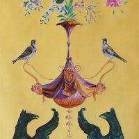 \'Les chimères\' - Panneau décoratif XVIIIe  Huile sur toile