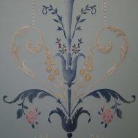 Ornementation Versailles - Huile sur toile - Détail - Camaïeu de tons bleus